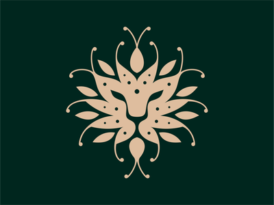 Lion branding ui illustration symbol mark icon design lion-logo lion logo animal-logo animal logo logo-design logotipo artsigma art leaf lion