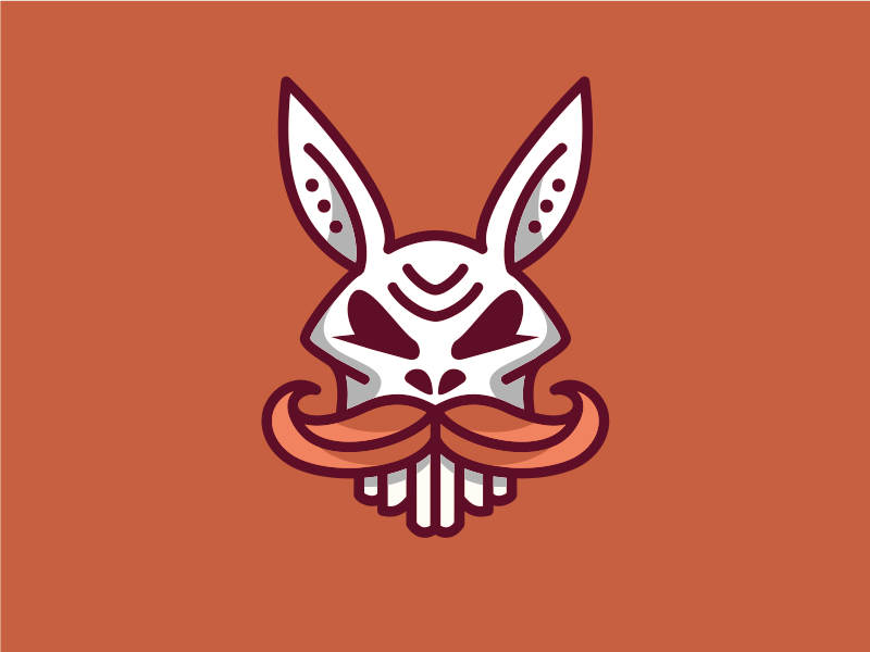 Rabbit Skull animal artsigma art logo design icon mark skull rabbit