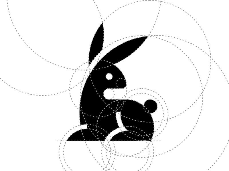 Hare artsigma art design logo grid mark rabbit hare
