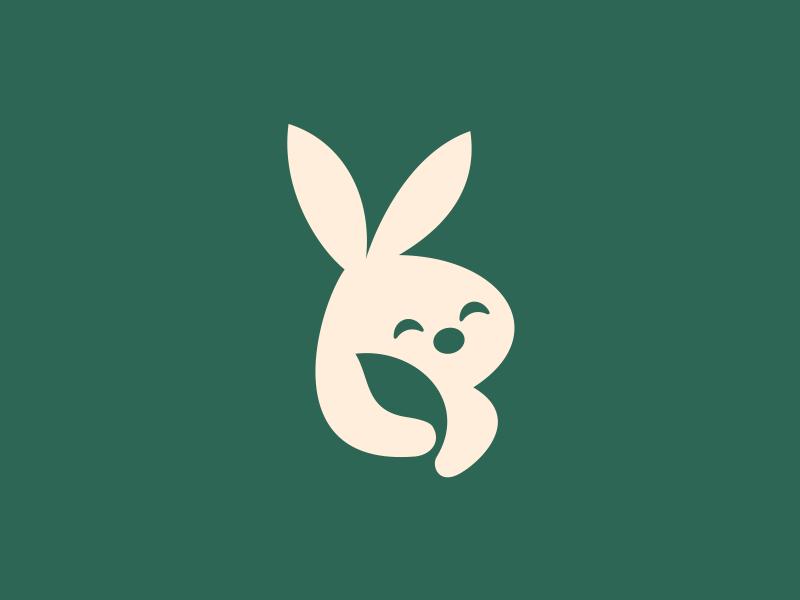 Leaf+Bunny - Negative Space artsigma art design logo space negative leaf bunny