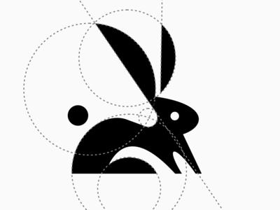 Rabbit logo-design art.sigma brand artsigma logo rabbit logo grid rabbit