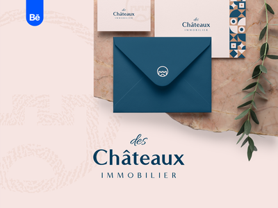 des Châteaux immobilier - Branding grid isotype icon castle house realty real estate home project typography design behance project behance branding mark logo identity