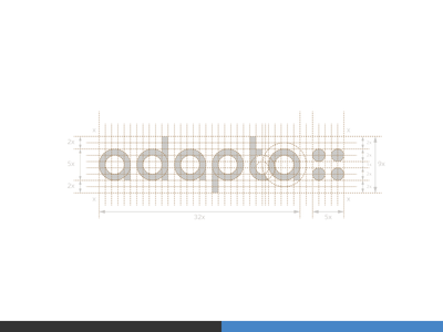 adapta - Accessibility consulting sketch sign process overlay monogram mark logo lettering identity grid geometry