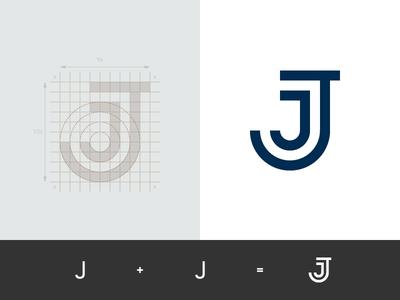 Jessica Janosevic - Content Creator sketch sign process overlay monogram jj mark logo identity heart grid geometry