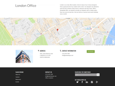 Business Office Location user interface web design website business website business london ui map location page location