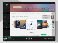 Spotify Home Screen - UI Redesign Concept