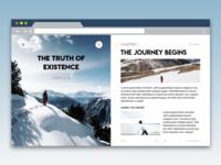 Book Themed Website Design