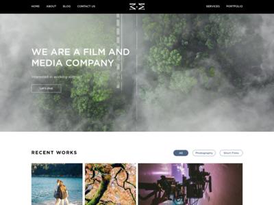 Film and Media Company Portfolio Website