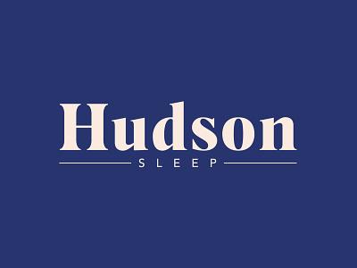 Hudson Sleep Pillow Case Logo sleep pillow logotype branding minimal typography cpg food and drink design logo design logo
