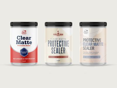 Paint Sealer Mocks - First Round Cuts home repair sealer paint bottle design cpg paint cog branding logo graphic design 3d