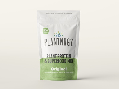 Plantnrgy - Packaging Redesign - 5 Flavors all natural keto paleo organic vegan plant energy superfoodmix superfood smoothie food and drink cpg design branding logo