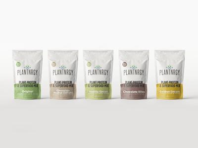 Packaging  Refresh - Full Flavor Lineup - Plantnrgy smoothie organic all natural keto vegan paleo food and drink cpg design branding logo