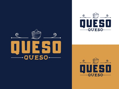 Unused Logo Concept - Cheese Dip nacho queso cheese chip mexican food cheese dip queso cheese minimal typography cpg food and drink design branding logo