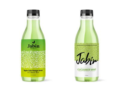 Jabin Bev Co - Final Designs snack beverage drink typography cpg food and drink design branding logo apple cider vinegar