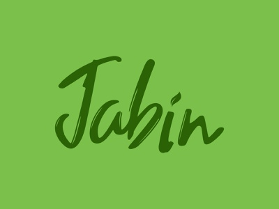 Jabin Bev Co. - Selected Logo drink typography minimal logo branding cpg food and drink design