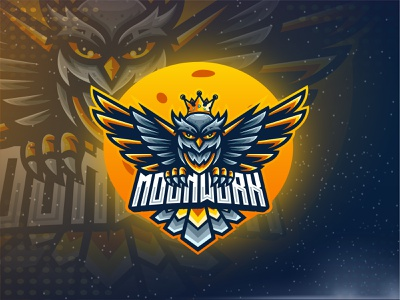 Owl Logo icon illustration charater brand branding moon king esport logo esport logo design logo owl logo