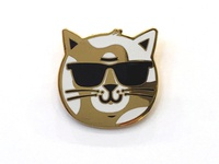 Brat Cat lapel pin