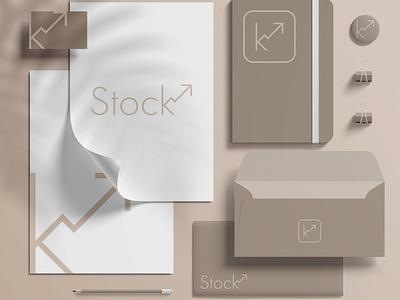 STOCK stationery logo illustration design branding brand identity brand design