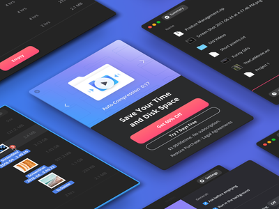 theBin BuyNow page popup apple macos dark mode sale preview ux interface mac ui carousel video thebin buy now buynow