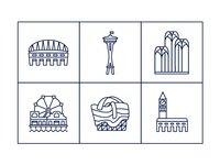 Seattle Landmark Icons pt.1