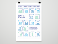Seattle on the Grid Poster