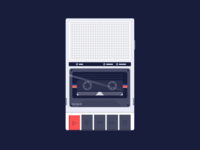 Retro Cassette Player Illustration