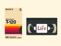Retro Sony VHS Tape