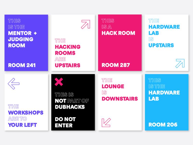 Wayfinding Signs direction identity branding arrow student uw abstract sign wayfinding hackathon