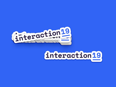 Interaction19 Logo Sticker tech swag sticker conference identity branding