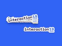 Interaction19 Logo Sticker
