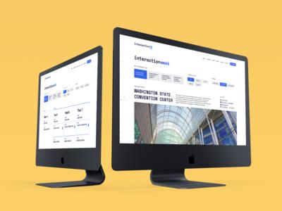 Interaction19 Desktop Website mockup calendar desktop website ux ui conference identity branding