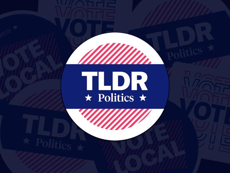 An Introduction to TLDR Politics vote voting politics video automation uw capstone sticker student identity branding