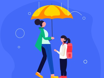 Rainy Day Illustration illustration art trendy illustration illustration digital illustrations creativestudio creative design agency booking website design creative agency artwork flat illustration illustration branding design agency pansy creativeagency