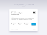 Design for e-mail receipt