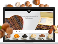 Promotional website for a store selling nuts and dried fruit