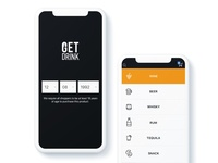 Screens of Alcohol delivery app - Getdrink