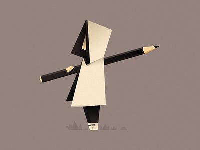 Mysterious Artist artist man origami illustration design character design character