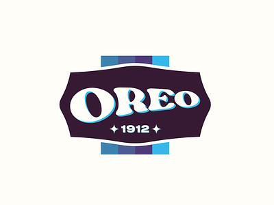 Retro Oreo Logo vintage retro logo