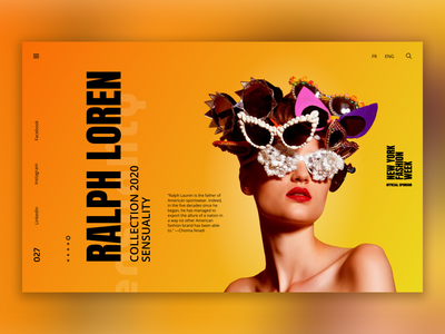 Landing Page Ralph Loren dailyui beauty model ux ui design fashion webdesign web design web