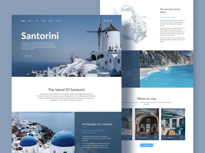 Landing Page Santorini travel santorini greece webdesign ux ui