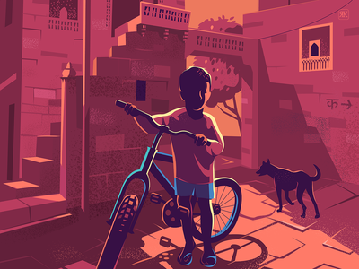 Learning to Balance travel illustration series architecture everyday lifestyle india stories rajasthan living fort jaisalmer fort