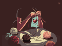 Weaving texture vector connections quarantine conceptual illustration heart fabric weaving
