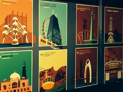 Illustration project illustration europe africa india china latin america usa america indonesia summit labelexpo 2014