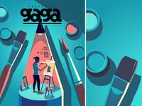 Creatives under lockdown - cover creating vector illustration magazine cover india sharing conceptual lockdown creavites