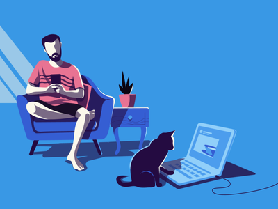 Unwind minimal illustration screen curefit new normal everyday observations stories working from home unwind