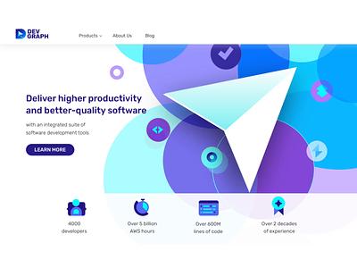 DevGraph - Development Tools productivity revamp content productdesign brand language identity website webdesign design