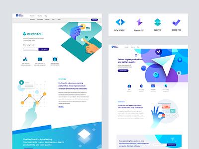 Devgraph -  product Landing pages branding developer visual language code saas app developer tools productivity
