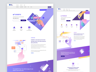 Devgraph -  product Landing pages branding developer visual language code saas app developer tools productivity