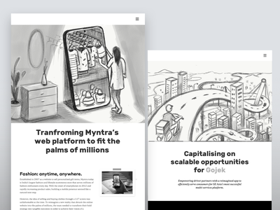 casestudies illustration contrast monochromatic visual direction conceptual illustration conceptual creative india startups casestudies