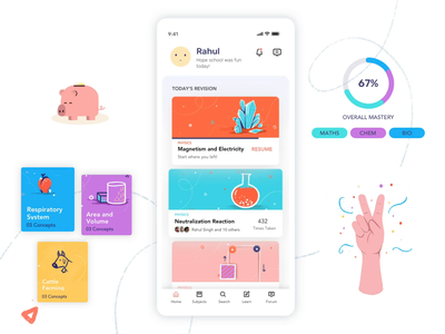 Classroom Learning - Reimagined mobile app design motion design illustration story webapp uxui branding school classroom